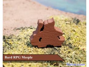 Bard Meeple - RPG - DnD
