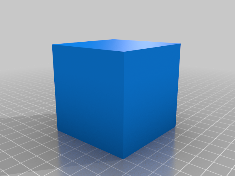 60x60x60 mm Simple Test Cube