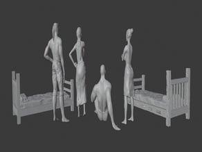 PG13 Brothel NPCs + Bed