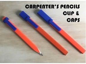Carpenters pencil clip & caps