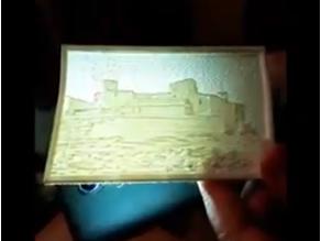 castle of Caspe lithophany