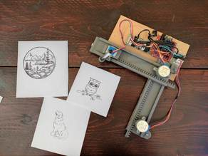 Arduino mini CNC plotter