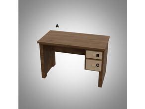 Office desk miniature