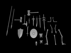 Terrain Scatter - Bones and Weapons