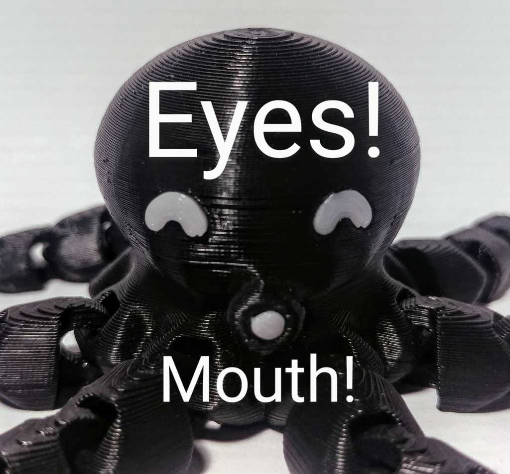 Eyes and Mouth for Cute Mini Octopus!