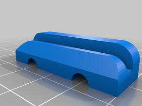 Alu rail mountig: version 4X3 M6 for 3cm rails