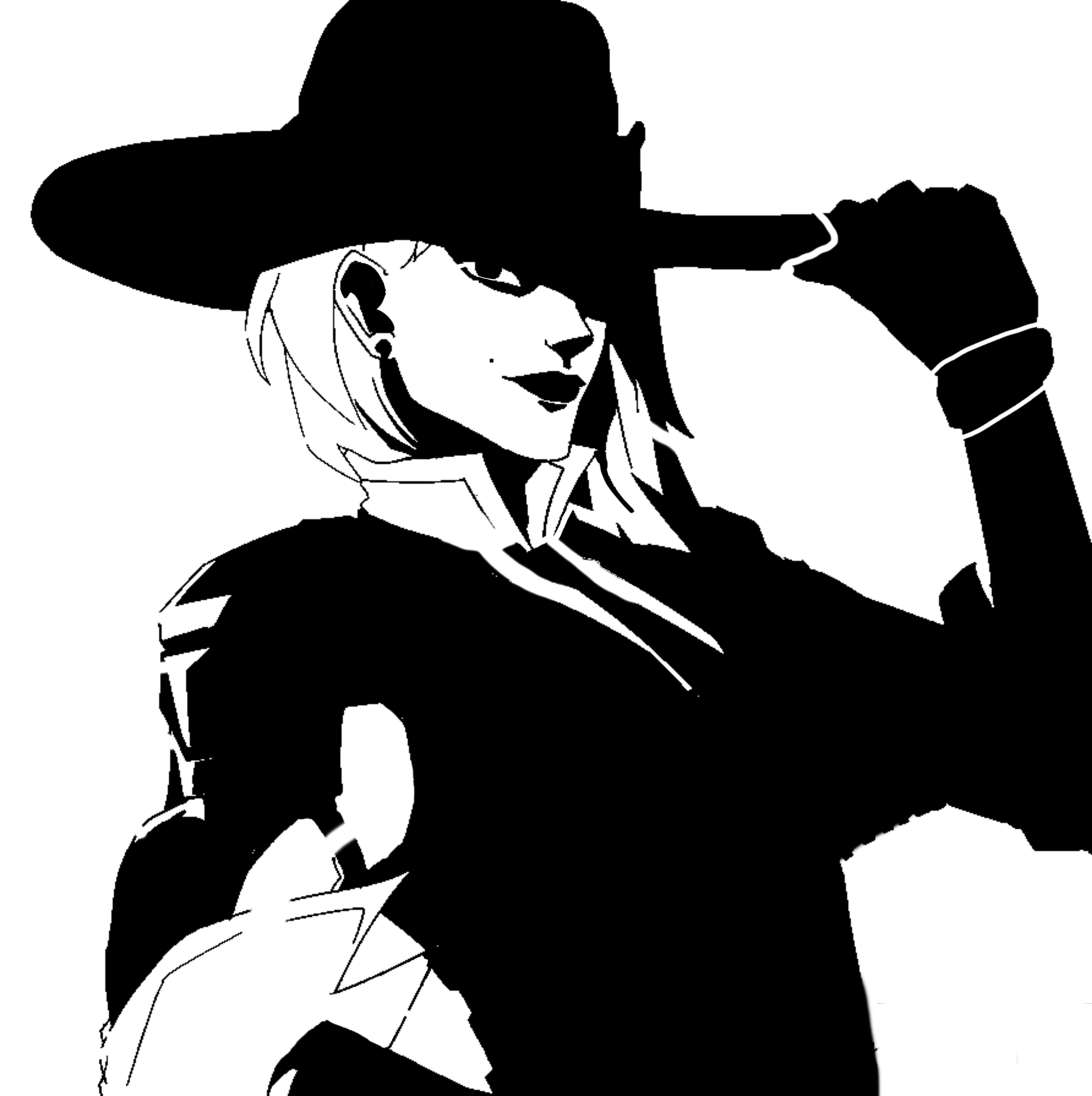 Overwatch Ashe Stencil