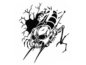 Centipede stencil 2
