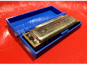 Hinged Box With Latch for Hohner R-Series Blues Harp