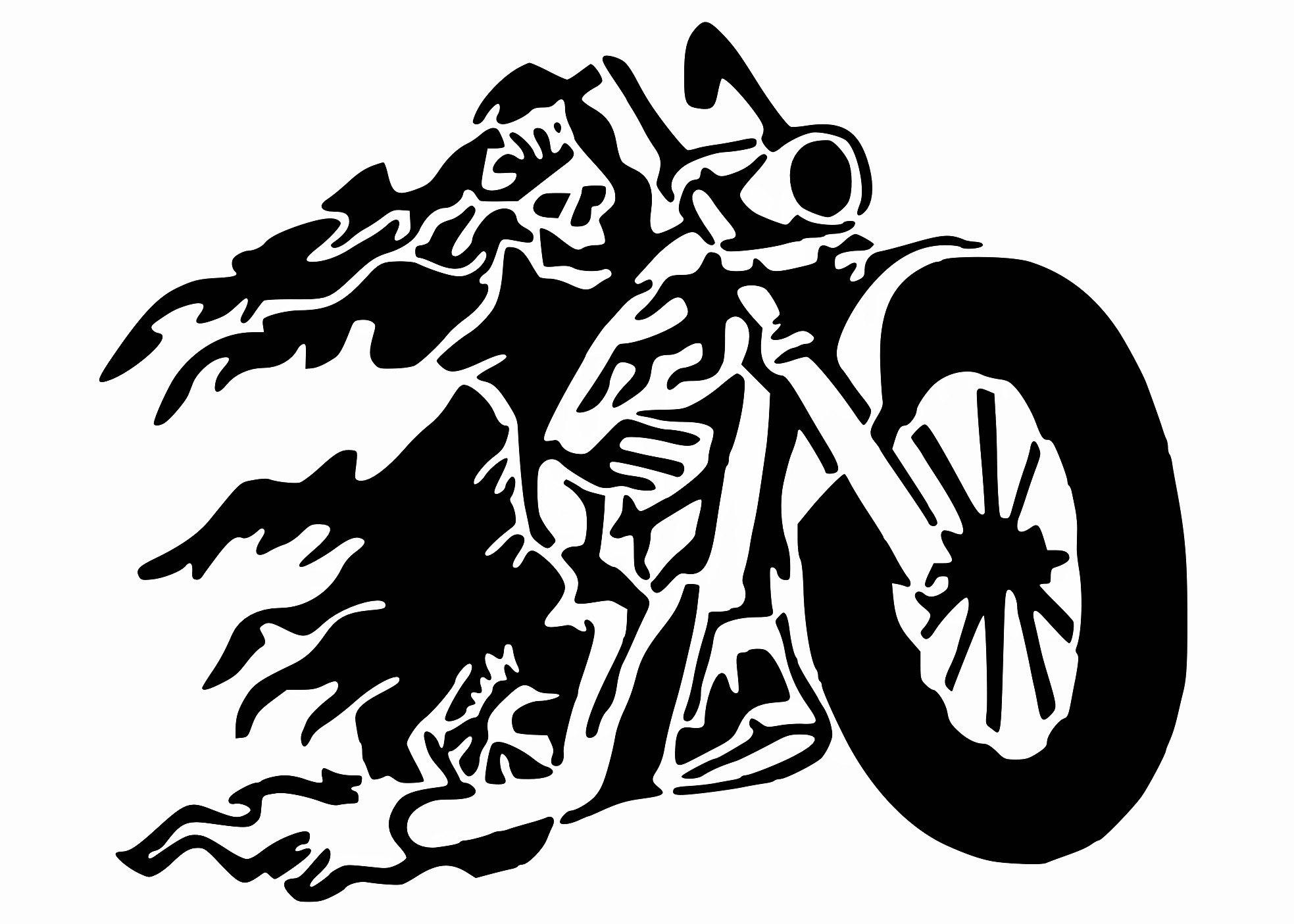 Biker Reaper stencil