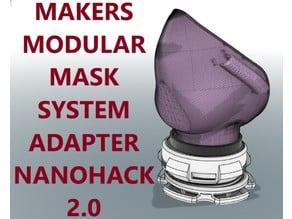 Makers Modular Mask System - Nano Hack 2.0 Adapter