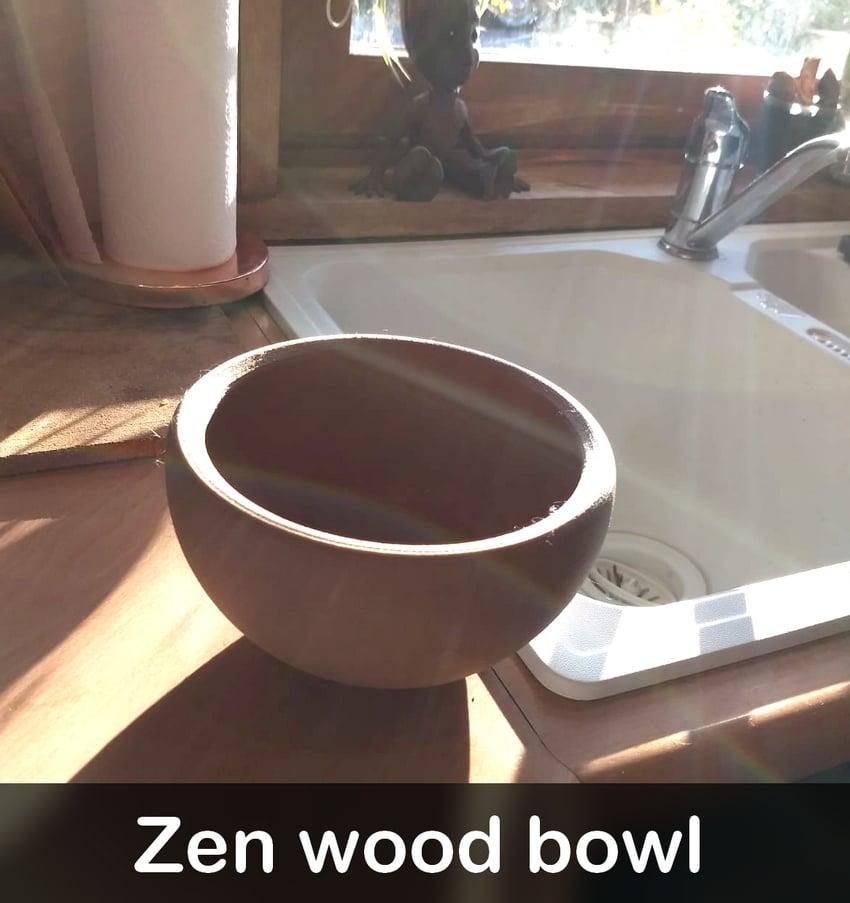 Zen vase - wood bowl