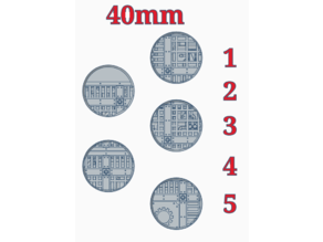 """40mm bases """"Sector Mechanicus"""""""