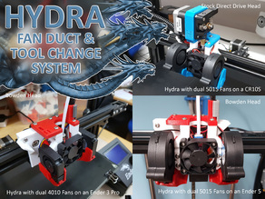 Hydra Fan Duct & Tool Change System for Ender 3 Ender 5  CR10