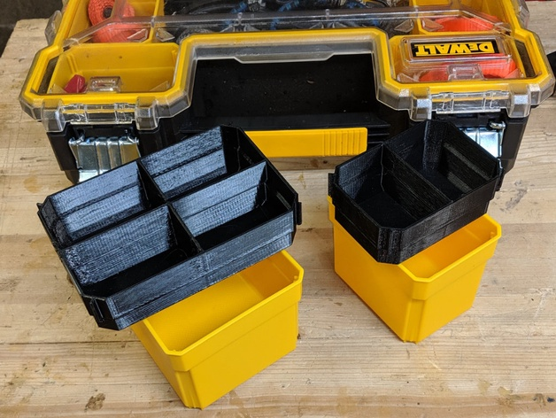Dewalt ToughSystem Organizer Compatible Small Nesting Cup Insert Bin