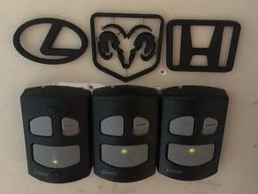 Honda, Ram, and Lexus - Logos for garage door buttons