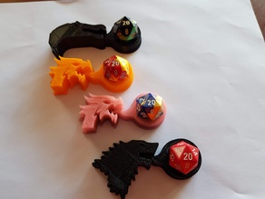 More d20 dice holders (spinosaurus & direwolf)