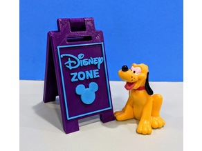 "Miniature A-Frame Sidewalk Sign ""Disney ZONE"""