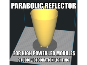 PARABOLIC REFLECTOR SPOTLIGHT FOR LED MODULE 20-100W