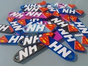 NHS Superhero Keyring
