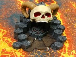 Basalt Terrain Skull Temple