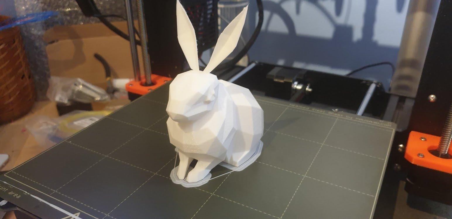 Arctic Rabbit (Low Poly)