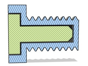 Stronger Bolt design (and this is usable in many applications) Create stronger 3D printed parts.