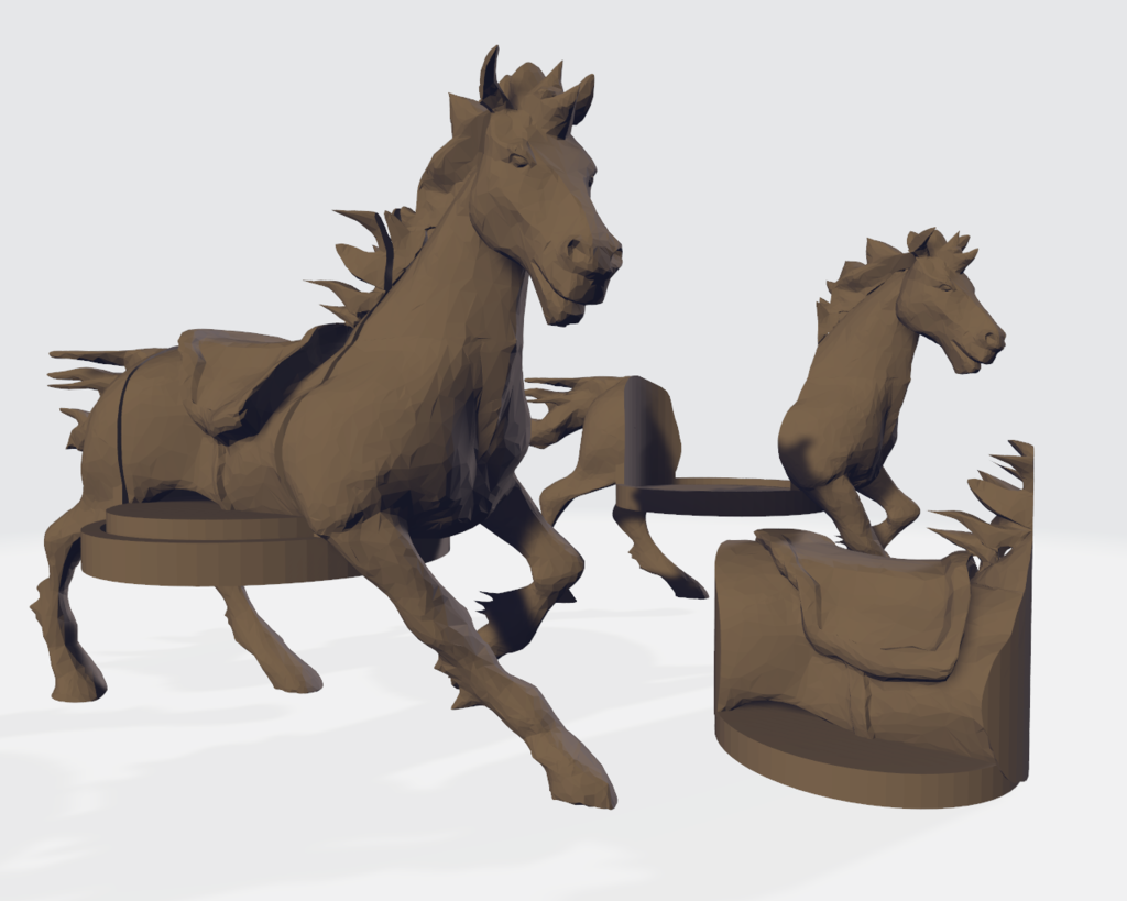 Horse Running Mount + Hole Fill
