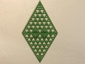 Fractal Diamond Wall Decor