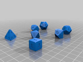 Polyhedral Dice Set for DnD Bugfix