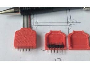 Six wire Ribbon cable Pin-header enclosure