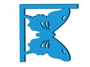 Butterfly Shelf Bracket (Nuclear Tape Mount)