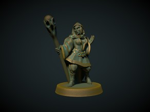 Female Elf Mage 28mm (No supports needed)
