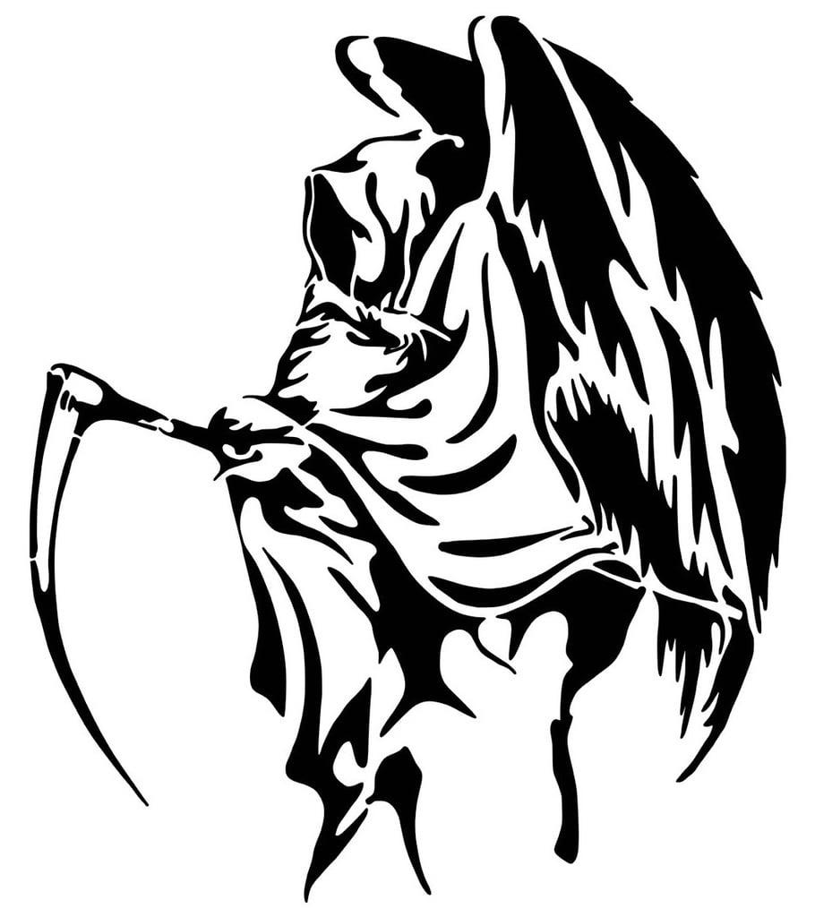 Grim Reaper stencil 6