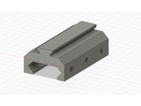 Picatinny / NATO rail to Dovetail rail adapter (21.2mm to 11mm)