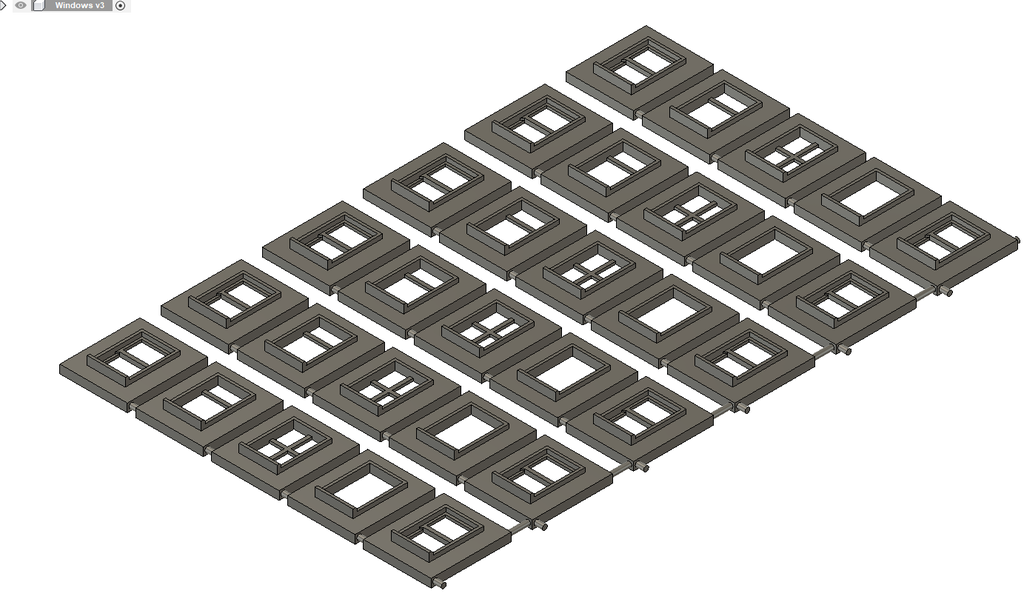 Z Scale Windows to fit 6.5 tall x 4.5mm wide hole