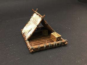 Adventurer's Raft for 28mm miniature gaming