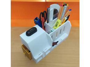 Large Desk Organizer (Smartphone charging port & mini amplifier)