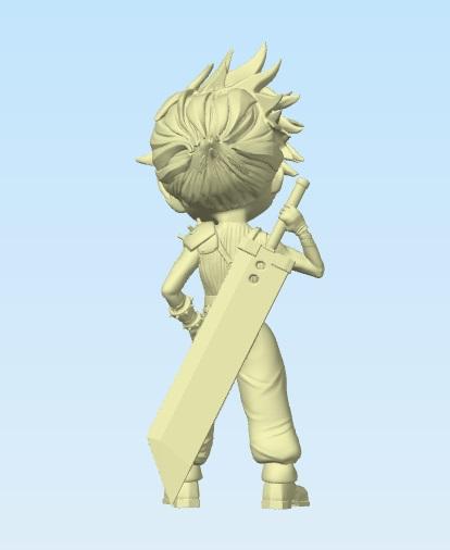 Cloud Chibi Final Fantasy VII