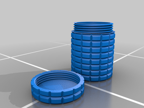 Ridged Container with Threaded Lid