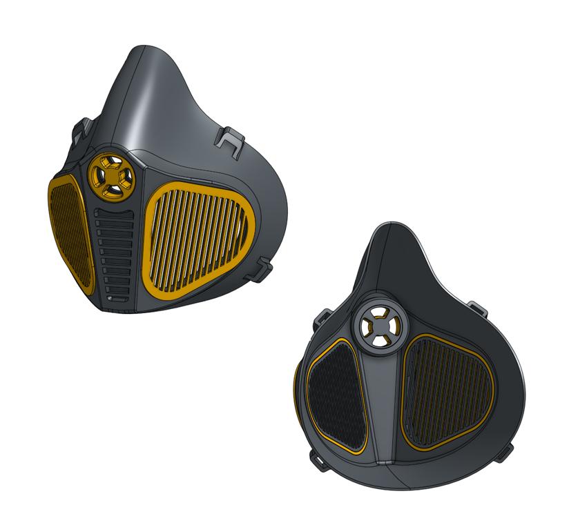 Filter mask more airflow