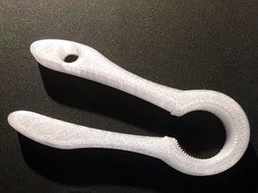 PET bottle opener modified for impaired poeple