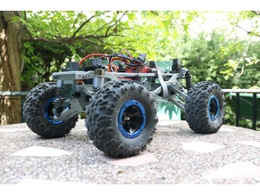 MyRCCar 1/10 Monster / Crawler Chassis with Configurable 270 to 330mm Wheelbase (old)