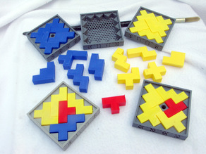Jagged Square Puzzles