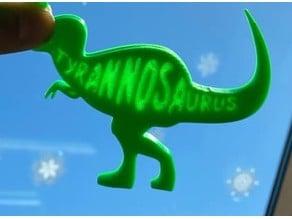 Tyrannosaurus lithophane