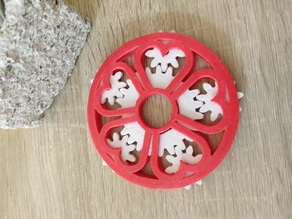 sakura / heart shape coaster