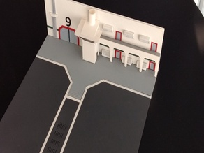 SciFi Hangar Diorama