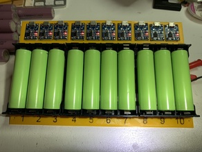 10x 18650 Battery Charger with TP4056 and 18650-PC8&6
