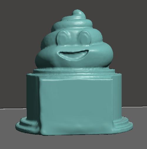 Poop Emoji Trophy with blank nameplate