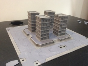 Titanstructure Dark future 8mm scale city tile for epic titanicus